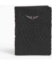 Zadig & Voltaire - Savage Leather Passport Holder - Lyst