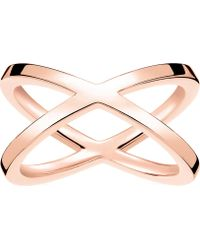 251628227 Thomas Sabo Royalty Multi-stone 18ct Rose Gold-plated Ring in Pink - Lyst