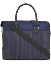 Dior Homme - Pinstripe Canvas Briefcase - Lyst