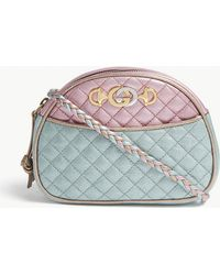Gucci - Metallic Quilted Leather Cross-body Bag - Lyst