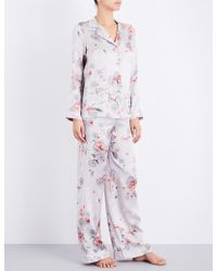 Meng - Pearl-print Silk-satin Pyjama Set - Lyst