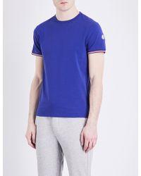 a9a614bc7 Lyst - Moncler Logo Pocket T-shirt in Blue for Men