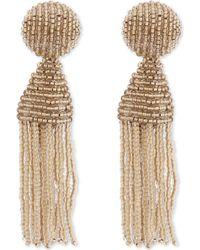 Oscar de la Renta - Classic Tassel Clip-on Earrings - Lyst
