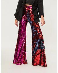 Halpern - Flared Sequinned Trousers - Lyst