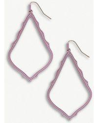 Kendra Scott - Sophee Matte Lilac-plated Earrings - Lyst