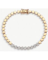 The Alkemistry - Kismet By Milka 14ct Star Rose-gold And Diamond Bracelet - Lyst