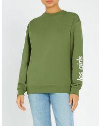 Les Girls, Les Boys - Logo-print Cotton-jersey Sweatshirt - Lyst