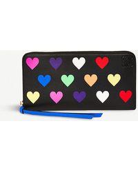 hearts zip around wallet - Black Loewe QqmqCUk