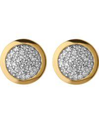 Links of London - Diamond Essentials Gold And Diamond Stud Earrings - Lyst