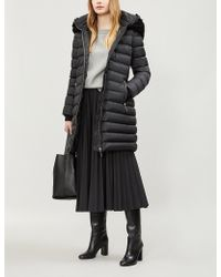 Burberry - Water Resistant Womens Black Stripe Limehouse Hooded Shell-down Puffer Coat - Lyst