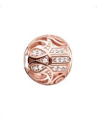 Thomas Sabo - Karma Beads Fatima's Hand 18ct Rose Gold-plated Bead - Lyst