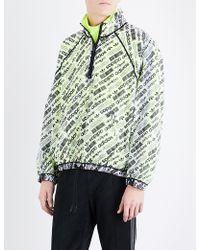 Alexander Wang | Logo-print Sports Mesh Shell Coat | Lyst