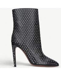 Alaïa - Rivet 110 Leather Ankle Boots - Lyst