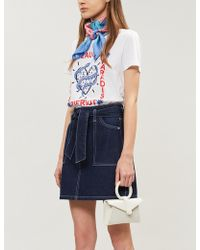 Claudie Pierlot - Teadoro Cotton-jersey T-shirt - Lyst