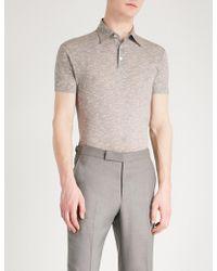 Richard James | Short-sleeved Cotton Polo Shirt | Lyst