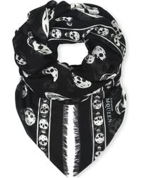 Alexander McQueen - Skull-print Modal And Cashmere-blend Pashmina - Lyst