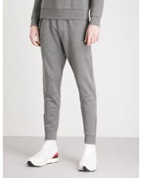 The Kooples - Biker-detail Cotton-jersey Jogging Bottoms - Lyst