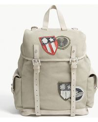 Eleventy - Canvas And Suede Backpack - Lyst