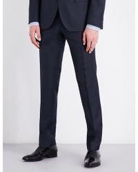 BOSS - Birdseye Regular-fit Wool Trousers - Lyst