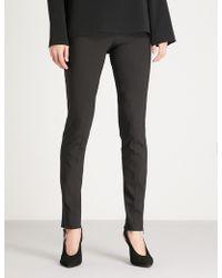 Stella McCartney - Zip-detail Cotton-blend leggings - Lyst