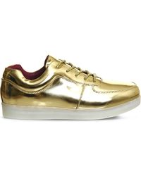Irregular Choice - State Of Flux Light-up Leather Trainers - Lyst