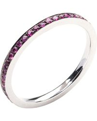 Annoushka - 18ct White Gold And Ruby Bangle - Lyst