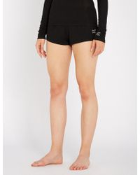 Les Girls, Les Boys - Ribbed Stretch-jersey Pyjama Shorts - Lyst