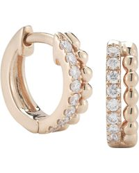 The Alkemistry - Dana Rebecca 14ct Rose Gold And Diamond Earrings - Lyst