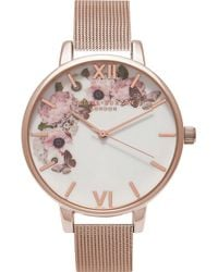 Olivia Burton - Ob16wg18 Floral Rose Gold-plated Watch - Lyst