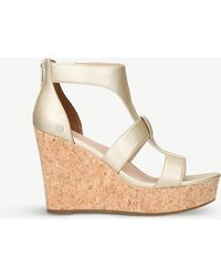 UGG - Whitney Leather Platforms - Lyst