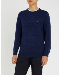 Tommy Hilfiger - Flag-embroidered Wool Jumper - Lyst