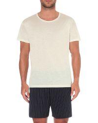 La Perla - Crewneck Silk And Cotton-blend T-shirt - Lyst