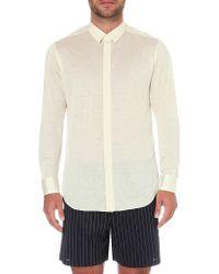 La Perla - Regular-fit Silk And Cotton-blend Shirt - Lyst
