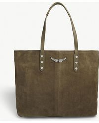 Zadig & Voltaire - Taupe Brown Mick Suede Tote Bag - Lyst