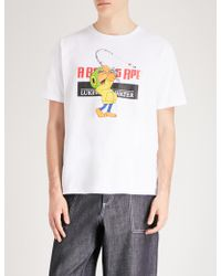 A Bathing Ape - Milo Fishing Cotton-jersey T-shirt - Lyst