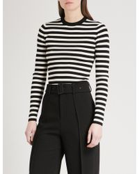 Mo&co. | Striped Knitted Jumper | Lyst