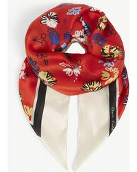 Claudie Pierlot - Acerise Floral-print Silk Scarf - Lyst