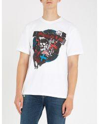 The Kooples - Skull-print Cotton-jersey T-shirt - Lyst