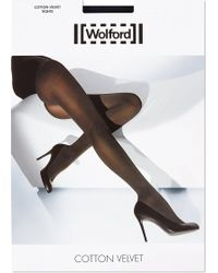 Wolford - Cotton Velvet Tights - Lyst