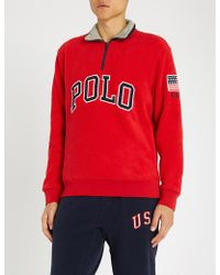 Polo Ralph Lauren - Funnel-neck Jersey Sweatshirt - Lyst
