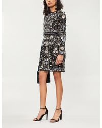 Needle & Thread - Ella Lace Floral-embroidered Gerogette Dress - Lyst