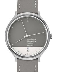 Mondaine - Mh1.l2280.lh Helvetica No1 Light Graphic Edition Stainless Steel Watch - Lyst