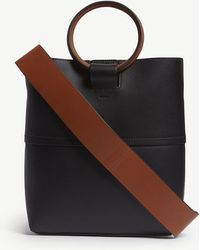 Theory - Leather Mini Hoop Tote Bag - Lyst