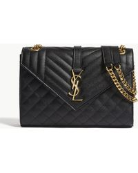 Saint Laurent - Monogram Quilted Leather Large Shoulder Bag - Lyst