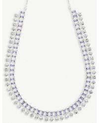 Kendra Scott - Oscar Rhodium-plated Brass Choker Necklace - Lyst