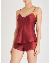 Simone Perele - Silk-satin Pyjama Shorts - Lyst