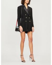 The Kooples - Double-breasted Satin And Crepe Playsuit - Lyst