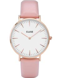 Cluse - Cl18014 La Bohème Stainless Steel And Leather Watch - Lyst