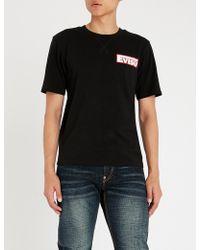 Evisu - Logo-print Cotton-jersey T-shirt - Lyst