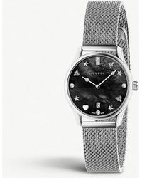 a36bc64bb4a Gucci - Ya1265001 G-timeless Mother Of Pearl And Stainless Steel Watch -  Lyst